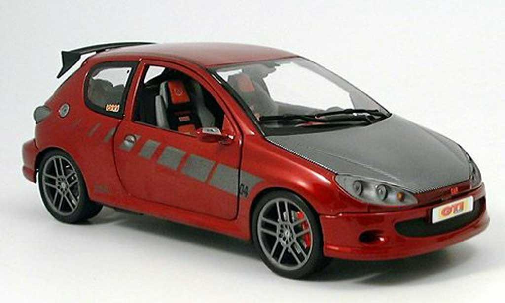 Peugeot 206 1/43 Norev Street Racer red diecast model cars