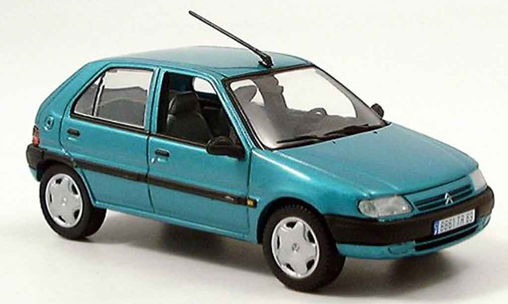 citroen saxo miniature verte 5 turer 1996 norev 1 43 voiture. Black Bedroom Furniture Sets. Home Design Ideas