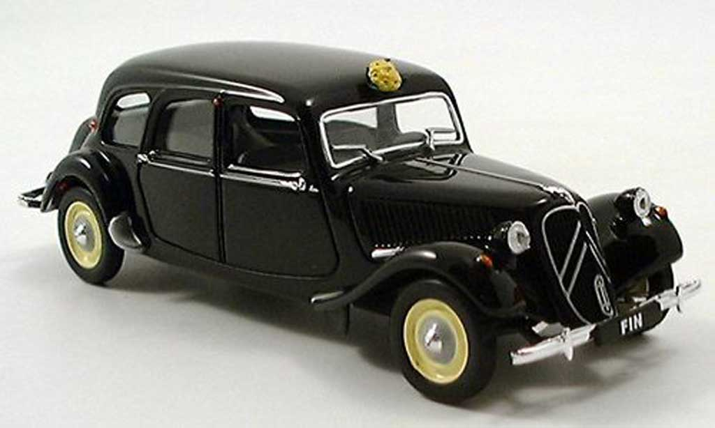 citroen traction 11 miniature cv familiale noire 1957 norev 1 43 voiture. Black Bedroom Furniture Sets. Home Design Ideas