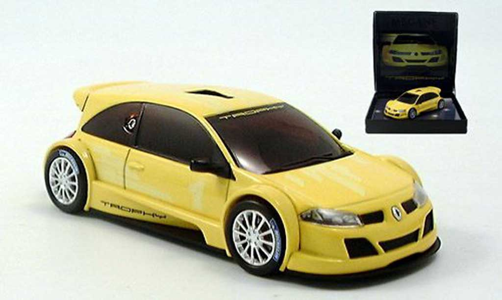 renault megane trophy miniature jaune 2005 norev 1 43 voiture. Black Bedroom Furniture Sets. Home Design Ideas