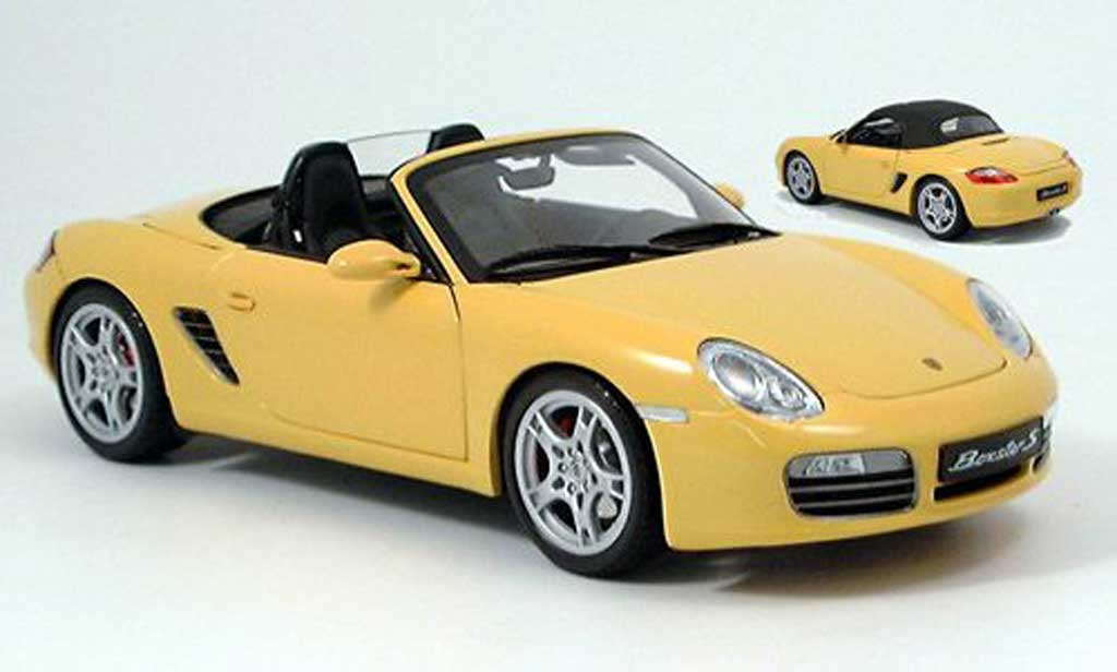 porsche boxster s gelb 2005 kyosho modellauto 1 18 kaufen verkauf modellauto online. Black Bedroom Furniture Sets. Home Design Ideas