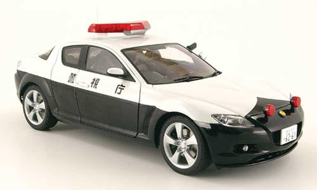 Mazda RX8 1/18 Autoart japanische polizei miniature