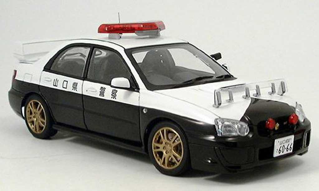 Subaru Impreza WRX 1/18 Autoart STI polizei miniature