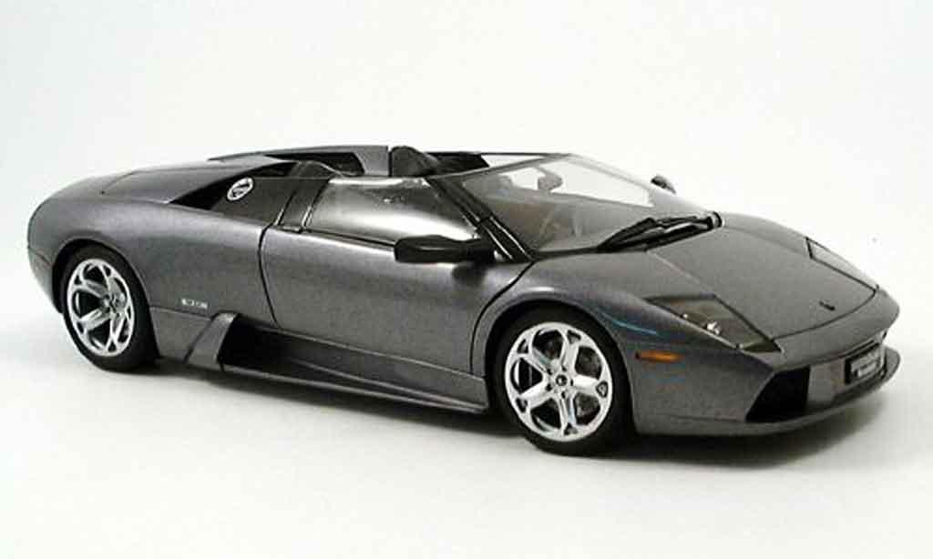 lamborghini murcielago roadster miniature grise autoart 1 18 voiture. Black Bedroom Furniture Sets. Home Design Ideas