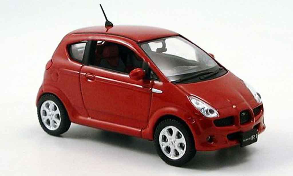 Subaru R1 1/43 Norev rouge 2006 miniature
