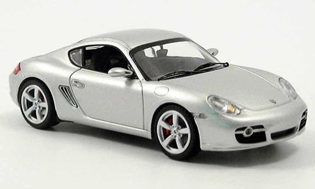 Porsche Cayman S 1/43 Schuco grise metallisee miniature