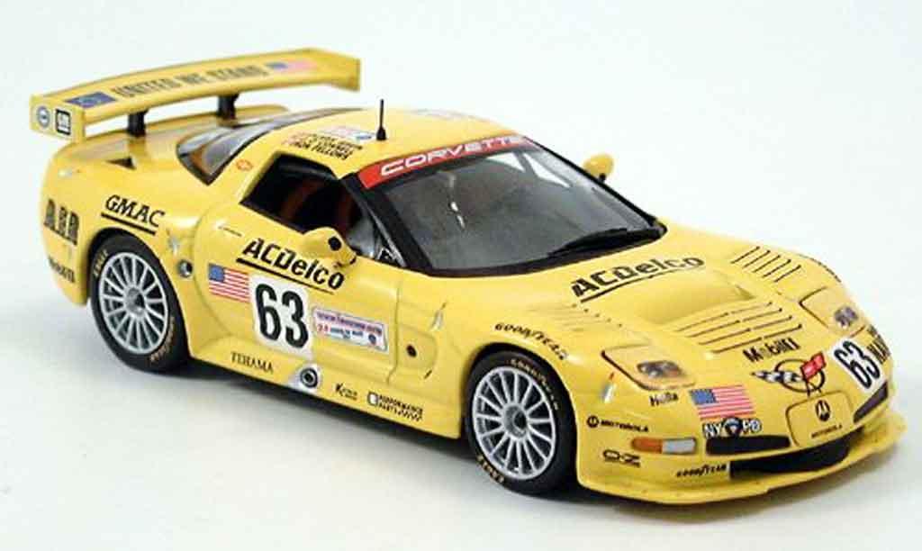 Chevrolet Corvette C5 1/43 IXO R No.63 24h Le Mans 2002 modellautos