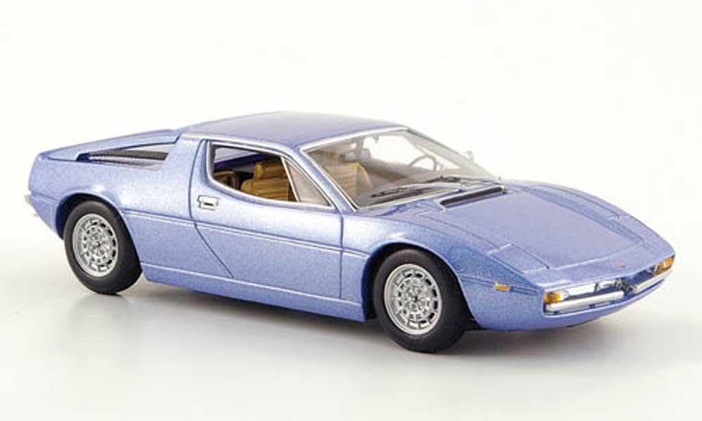 Maserati Merak gray blue 1974 Minichamps. Maserati Merak gray blue 1974 miniature 1/43