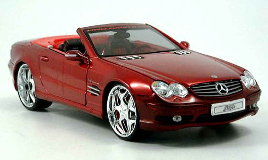 Mercedes Classe SL 1/18 Maisto 55 amg cabrio rouge tuningcar playerz miniature