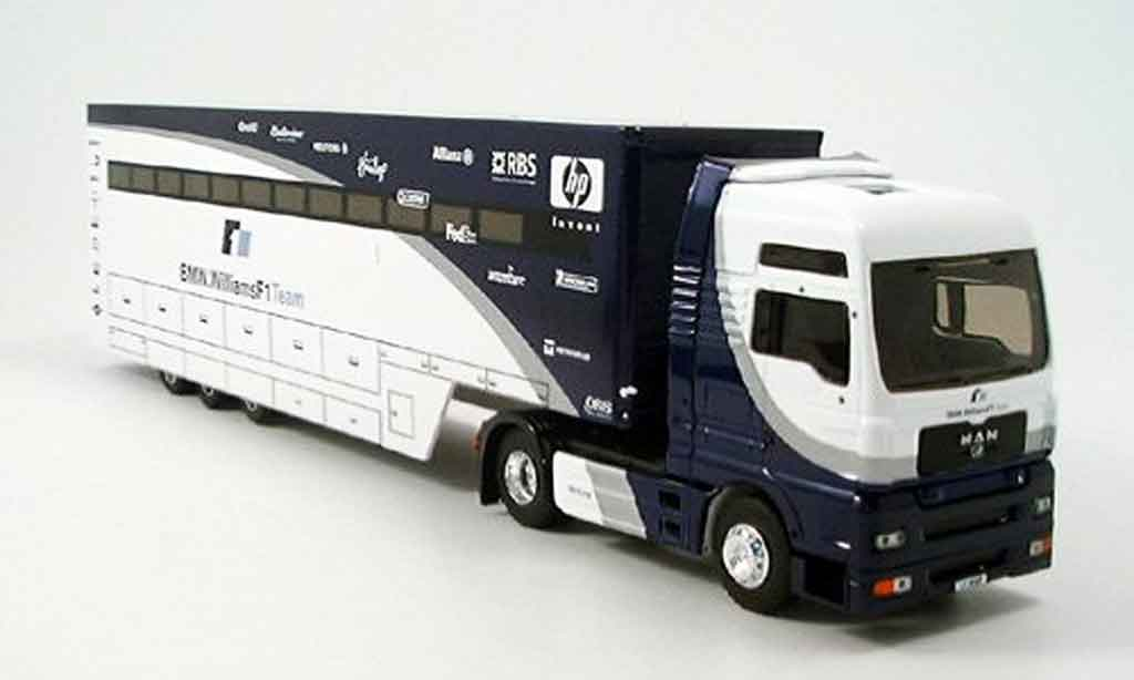 Bmw F1 2005 1/43 Eligor MAN TG XXL Williams Truck miniature