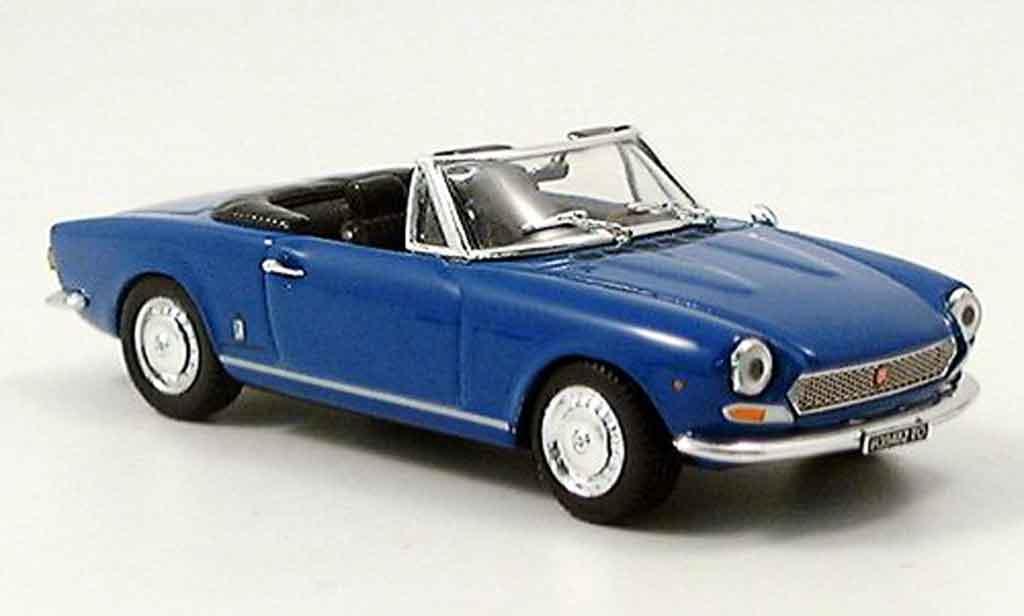 Fiat 124 1/43 Vitesse BS1 Spider bleu offen diecast model cars