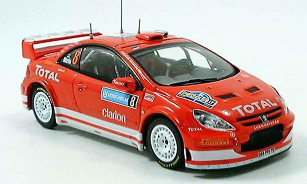 Peugeot 307 WRC 1/43 IXO no.8 martin park rallye schweden 2005 miniature