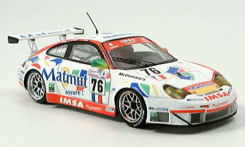 Porsche 996 GT3 RS 1/43 Spark No. 76 Le Mans 2005 diecast model cars