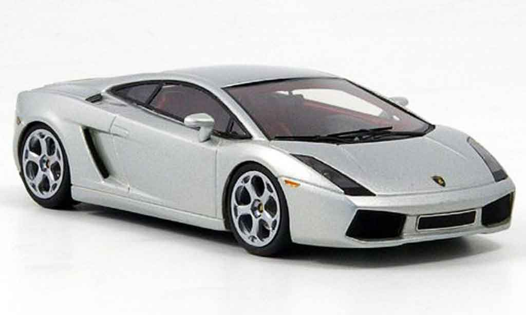 Lamborghini Gallardo 1/43 Look Smart grise metallisee rouges interieur miniature