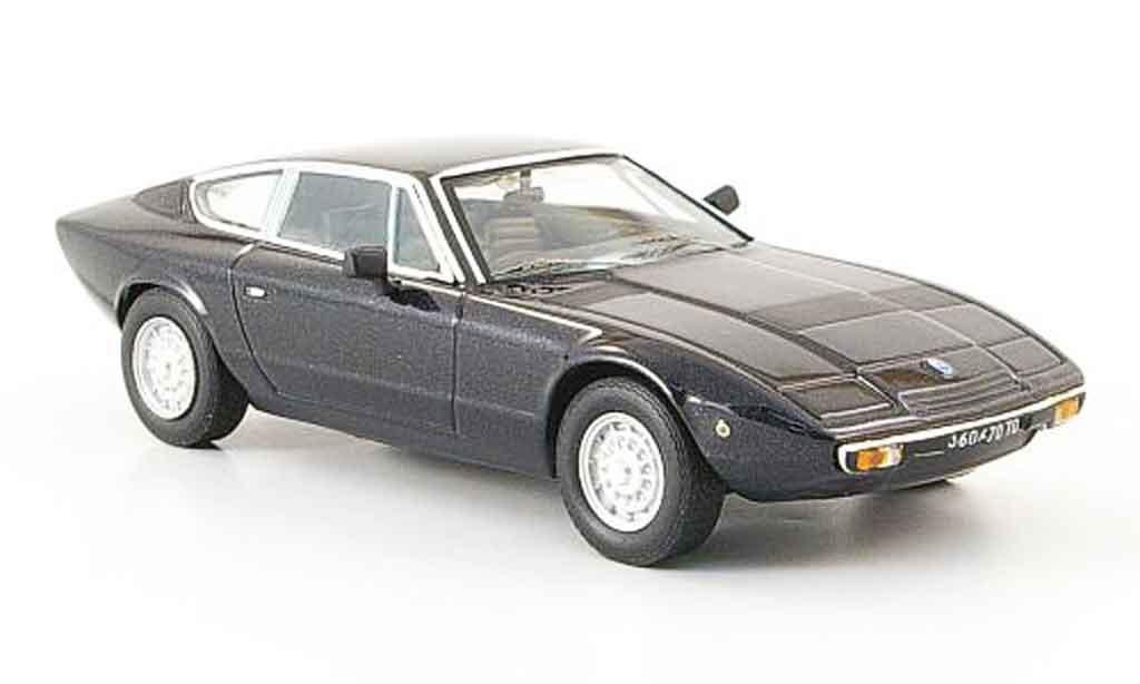 Maserati Khamsin 1/43 IXO noire 1972 miniature