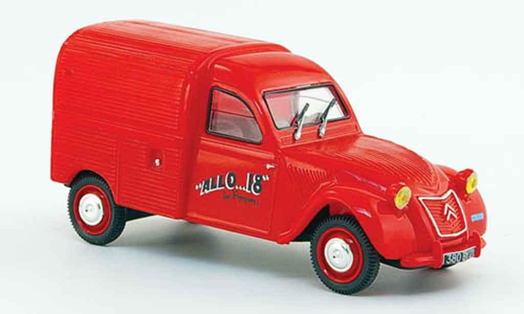 Citroen 2CV 1/43 Norev az pompiers dijon pompier frankreich 1955 miniature