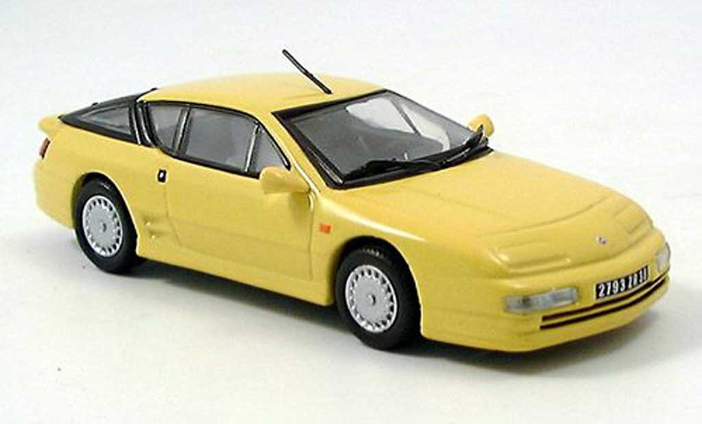 Alpine A610 1/43 Norev A 610 yellow diecast model cars