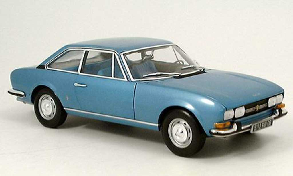 Peugeot 504 coupe 1/18 Norev bleu 1971 miniature