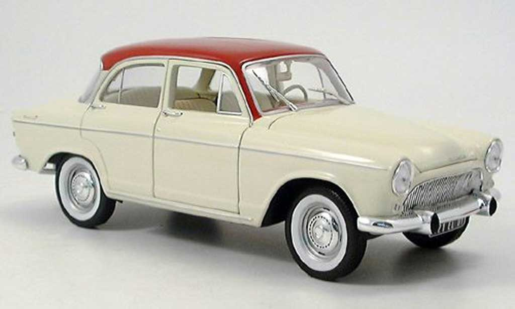 Simca P 60 1/18 Norev montlhery red-beige 1961 diecast model cars