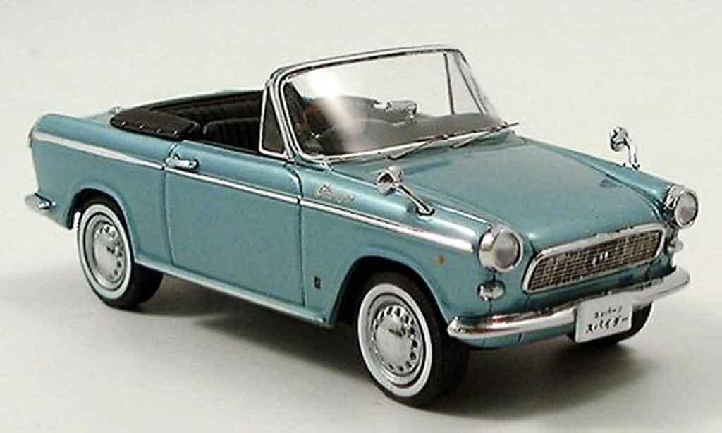 Daihatsu Compagno 1/43 Ebbro Spider bleu 1965 miniature
