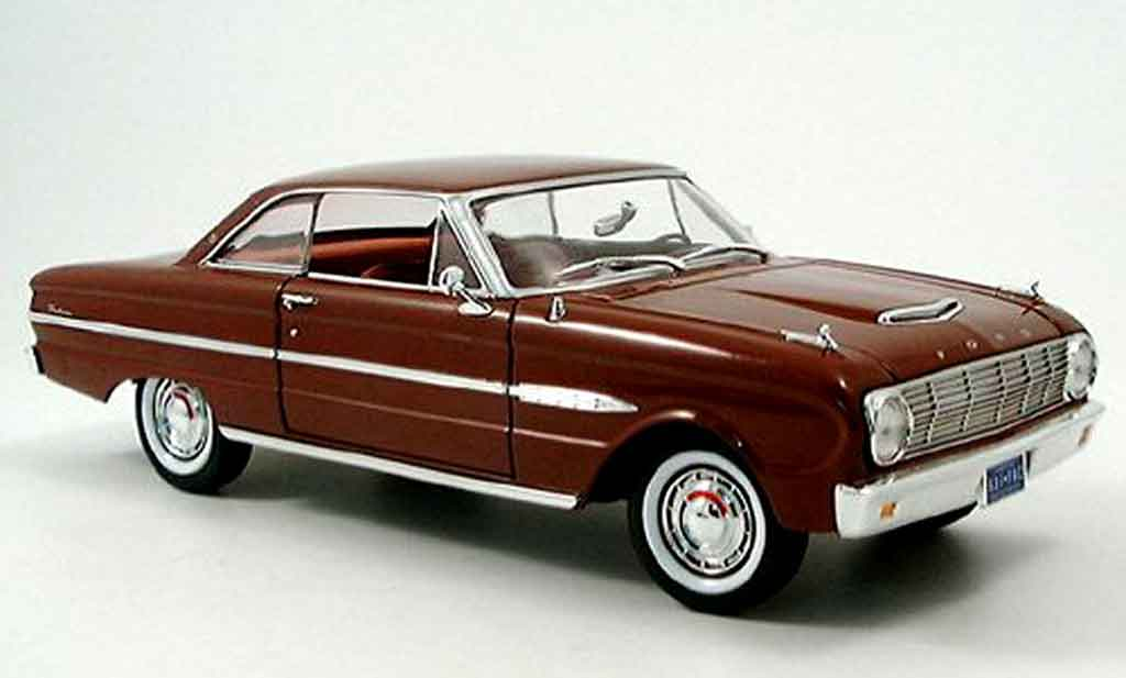 Ford Falcon coupe 1/18 Yat Ming marron 1963 miniature