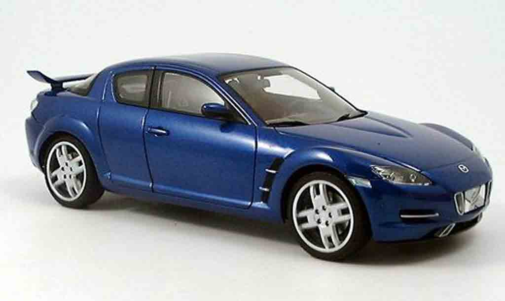 mazda rx8 x men filmauto blau autoart modellauto 1 18. Black Bedroom Furniture Sets. Home Design Ideas