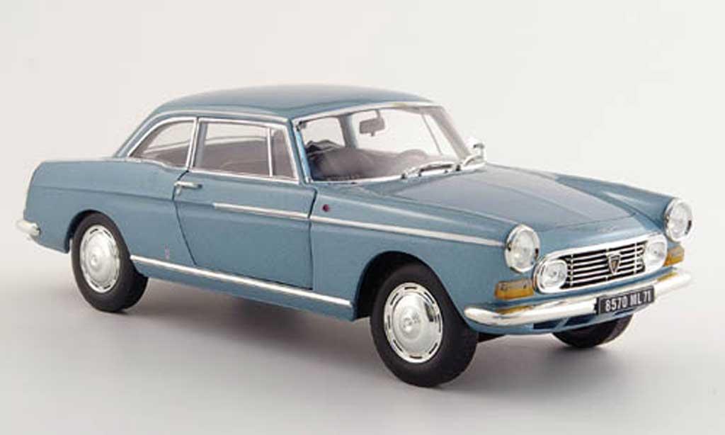 Peugeot 404 coupe 1/18 Norev grise bleu miniature
