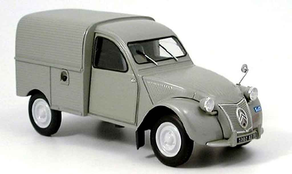 citroen 2cv camionette ente kastenwagen grau norev modellauto 1 18 kaufen verkauf modellauto. Black Bedroom Furniture Sets. Home Design Ideas
