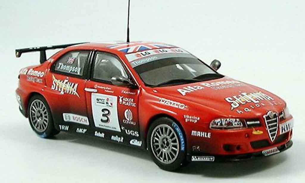 Alfa Romeo 156 GTA WTCC 1/43 Spark no. 3 selenia thompson 2005