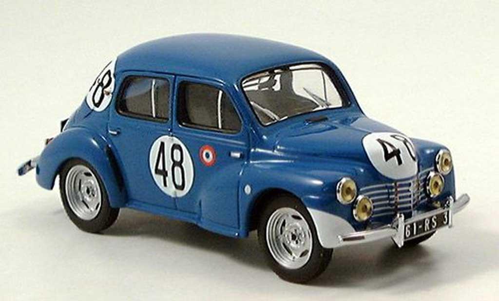 Renault 4CV 1/43 IXO No. 48 Le Mans 1948 miniature