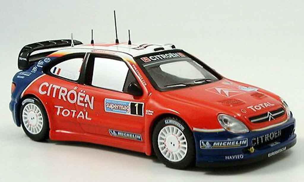 Citroen Xsara WRC 2005 1/43 IXO no.1 loeb elena sieger rallye italien miniature