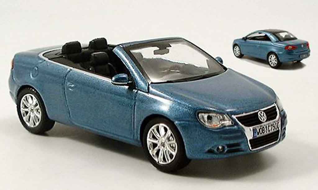 volkswagen eos cabrio blue avec hardtop norev diecast. Black Bedroom Furniture Sets. Home Design Ideas