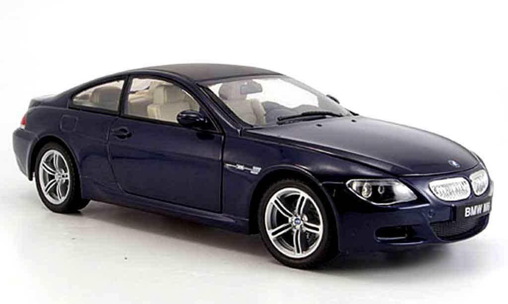 Bmw M6 E63 1/18 Revell bleu 2004 miniature