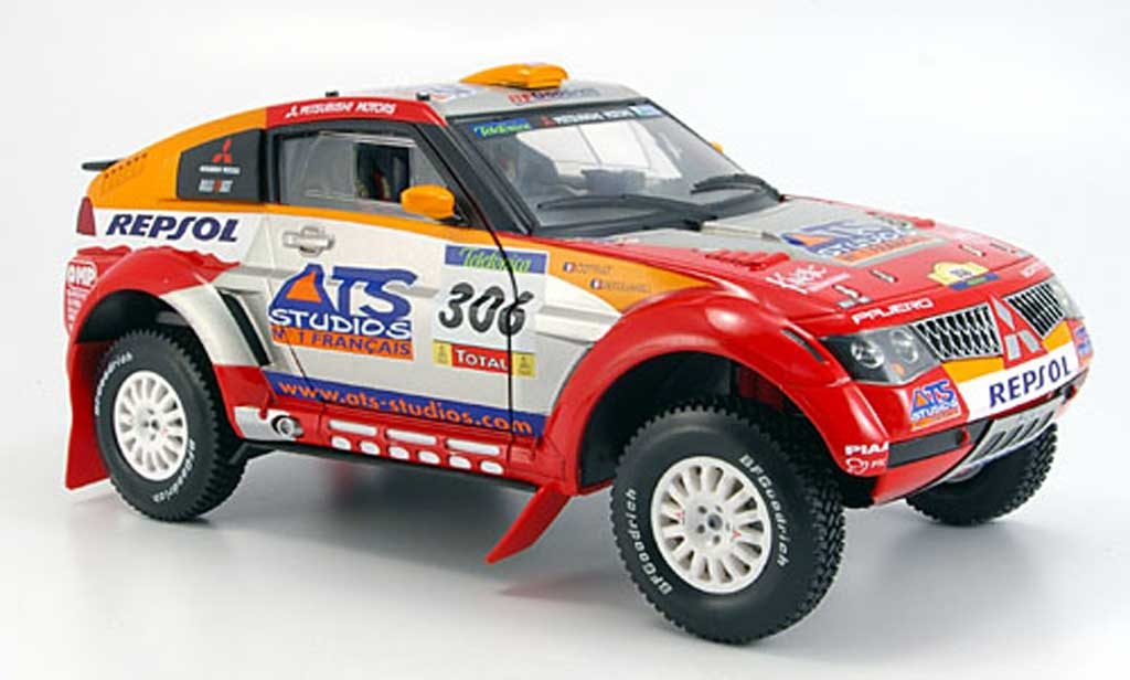 Mitsubishi Pajero 1/18 Solido evo no.306 ats rallye barcelona-dakar 2005 miniature