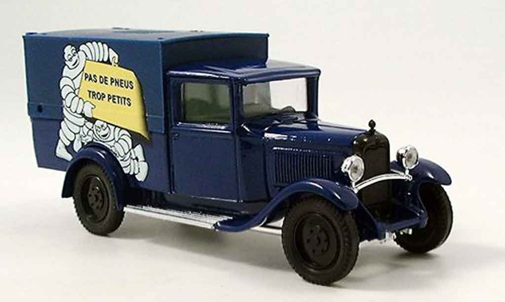 Citroen C4 fourgon michelin blue 1930 Solido. Citroen C4 fourgon michelin blue 1930 Michelin miniature 1/43