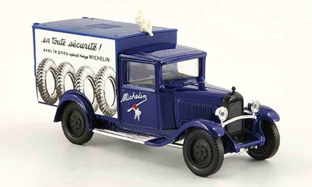 Citroen C4 fourgon michelin blue 1930 Solido. Citroen C4 fourgon michelin blue 1930 Michelin miniature 1/43
