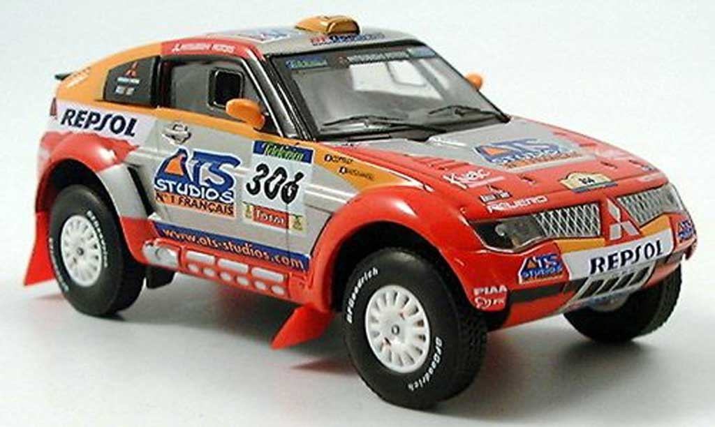 Mitsubishi Pajero 1/43 Solido Evolution No.306 Repsol Peterhansel / Cottret Rally Dakar 2005 miniature