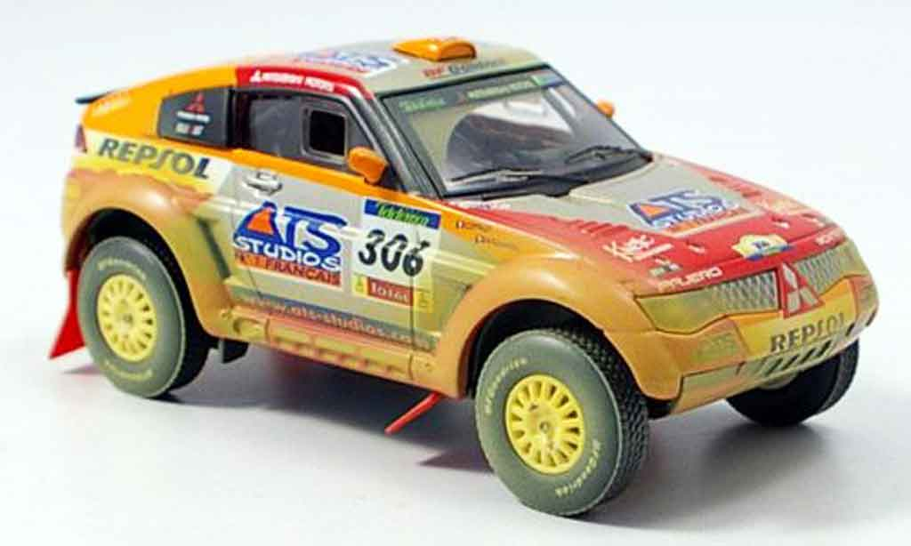 Mitsubishi Pajero Evolution 1/43 Solido MPR11 avec Schmutzeffekt 2005 diecast