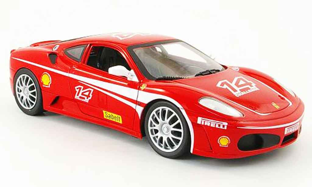 Ferrari F430 Challenge 1/18 Hot Wheels no.14 rouge