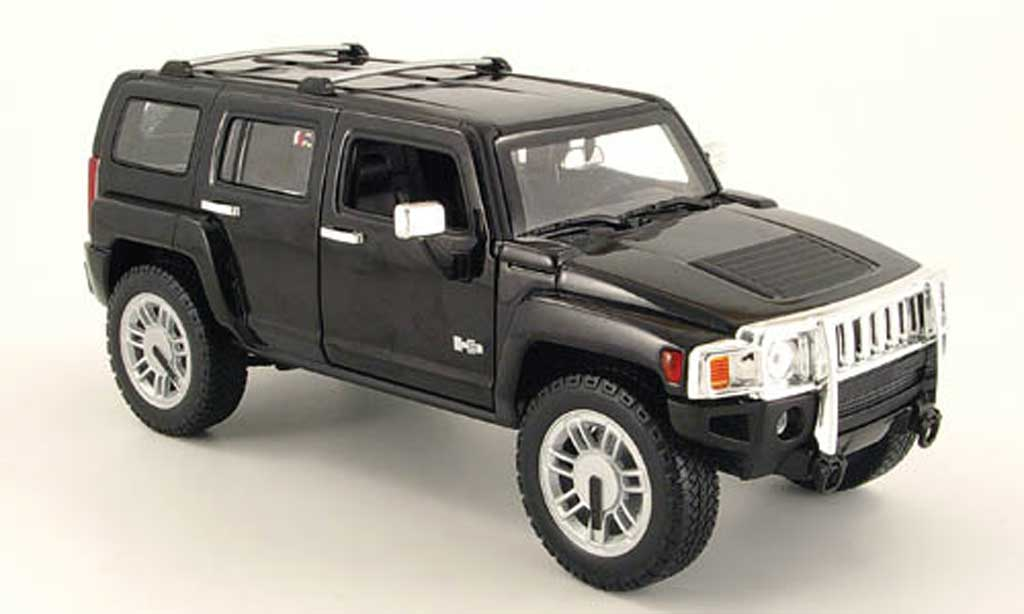 Hummer H3 1/18 Hot Wheels SUV noire miniature