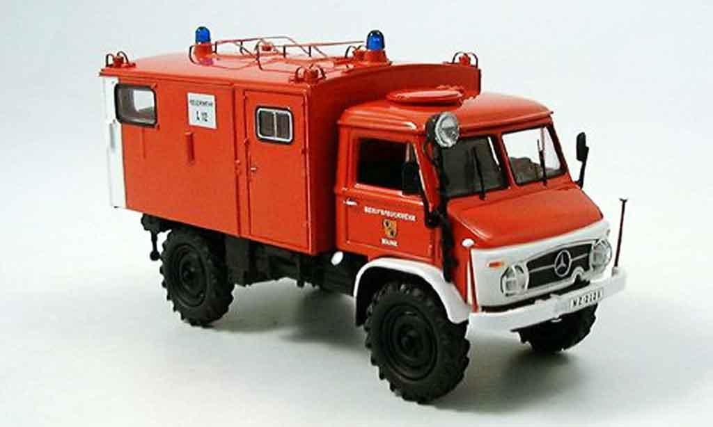 Mercedes Unimog 1/43 Schuco 404S Funkkoffer pompier miniature