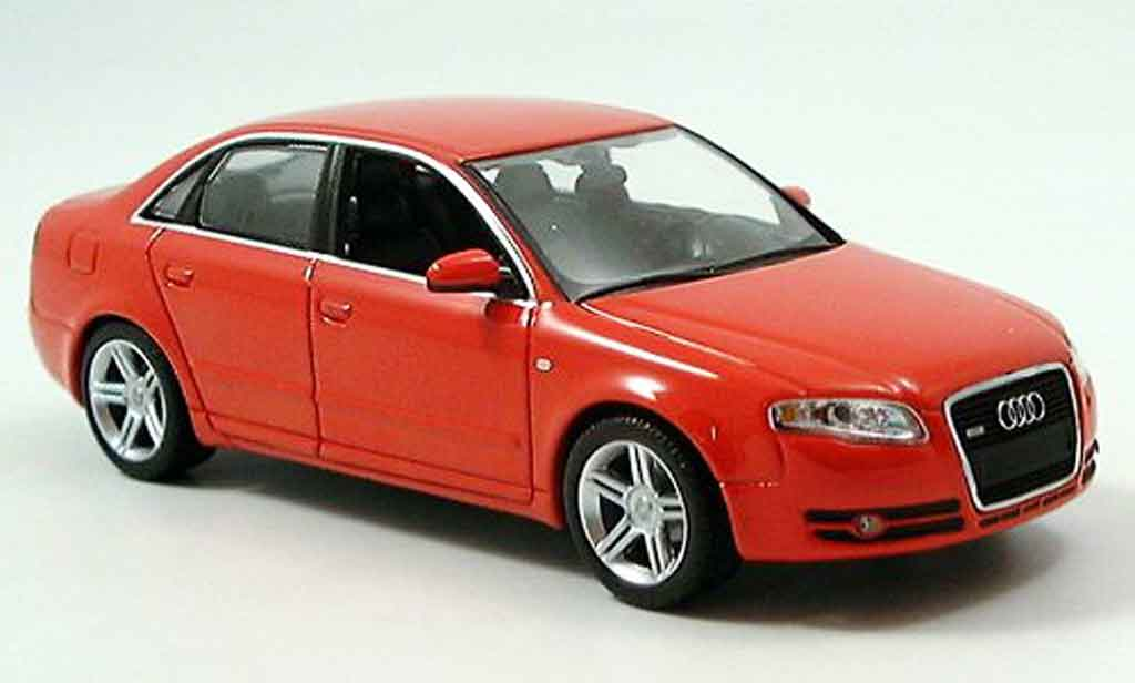 Audi A4 1/43 Minichamps red 2004 diecast model cars