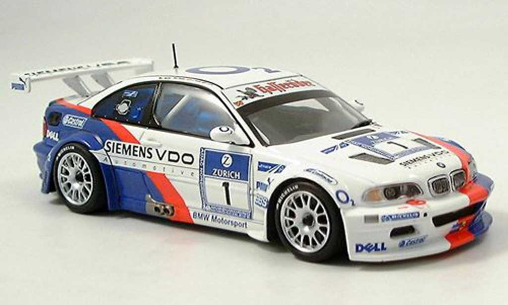 Bmw M3 E92 1/43 Minichamps GTR No.1 Team Motorsport 24h ADAC Nurburgring 2005 diecast model cars