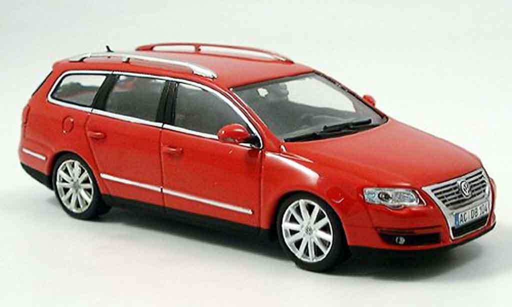 Volkswagen Passat 1/43 Minichamps variant rouge 2005 miniature