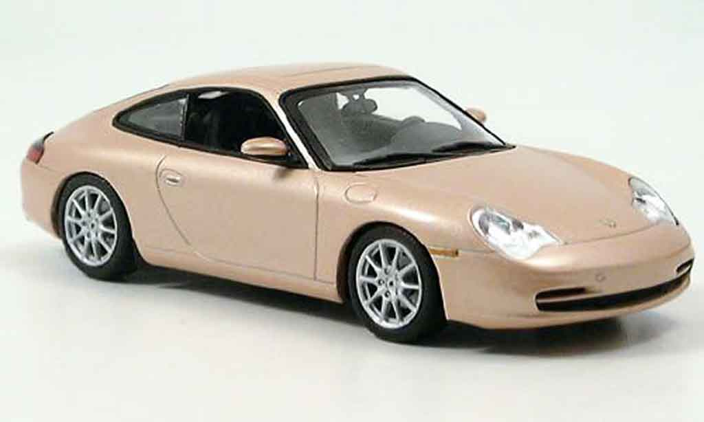 Porsche 996 Carrera 1/43 Minichamps Carrera grey metallisee beige 2001 diecast model cars