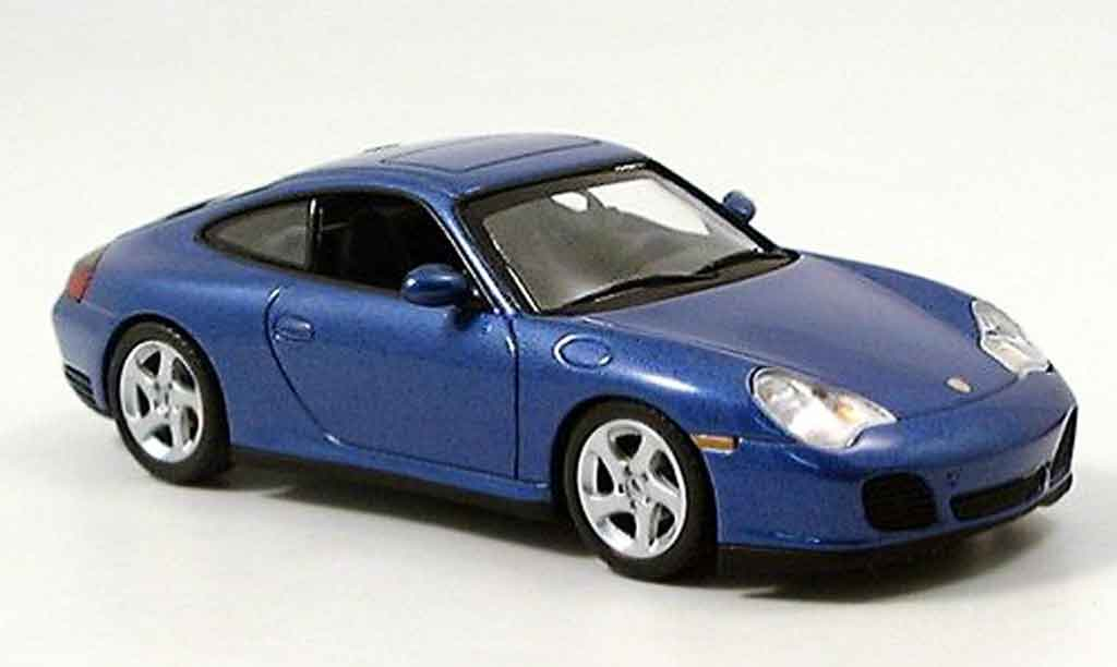 Porsche 996 4S 1/43 Minichamps Carrera bleu 2001 diecast model cars