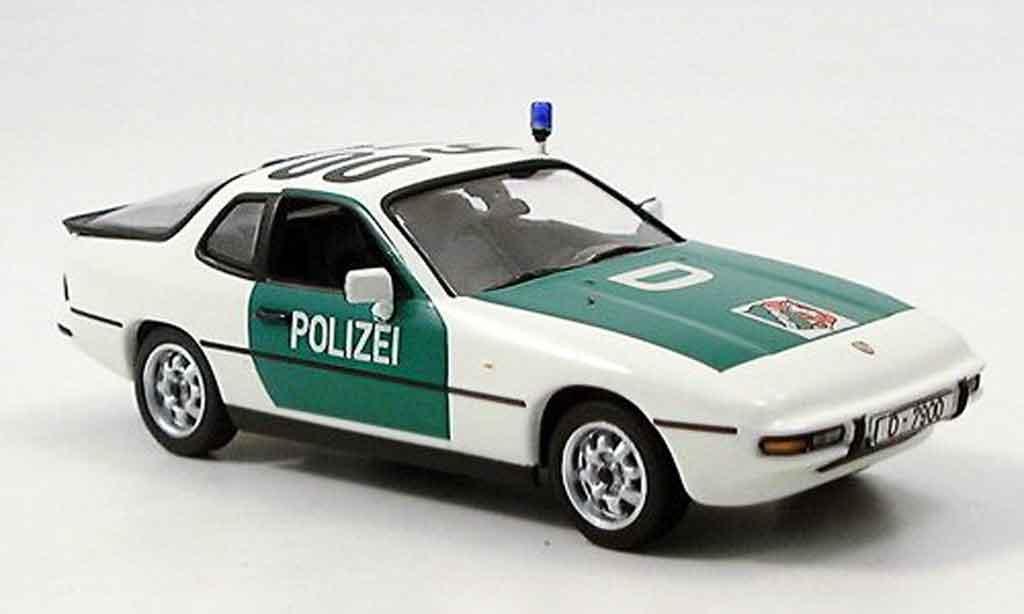Porsche 924 1/43 Minichamps Autobahnpolice Dusseldorf miniature