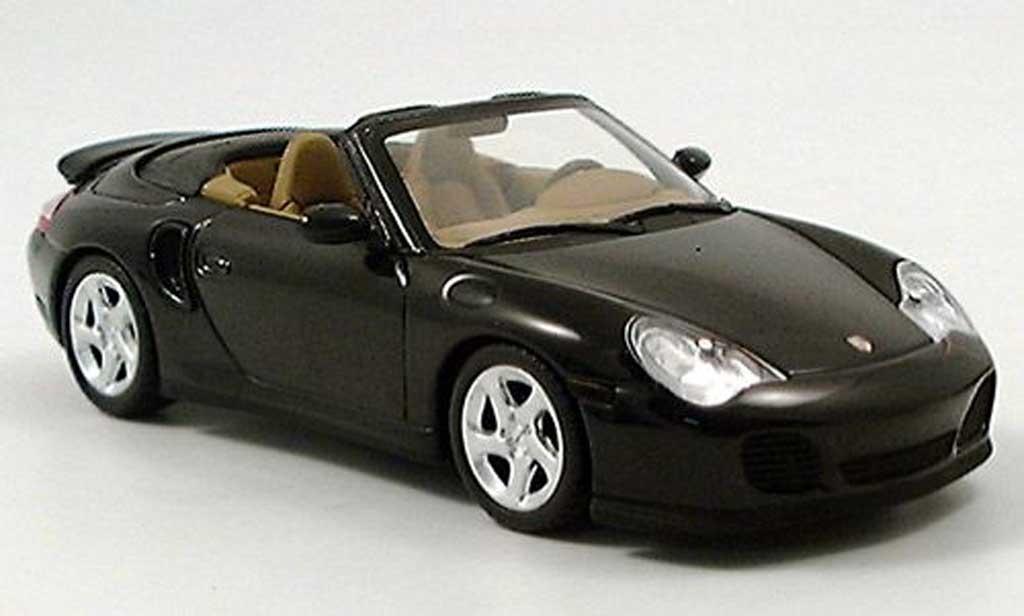 Porsche 996 Turbo 1/43 Minichamps Cabriolet verte 2005 miniature