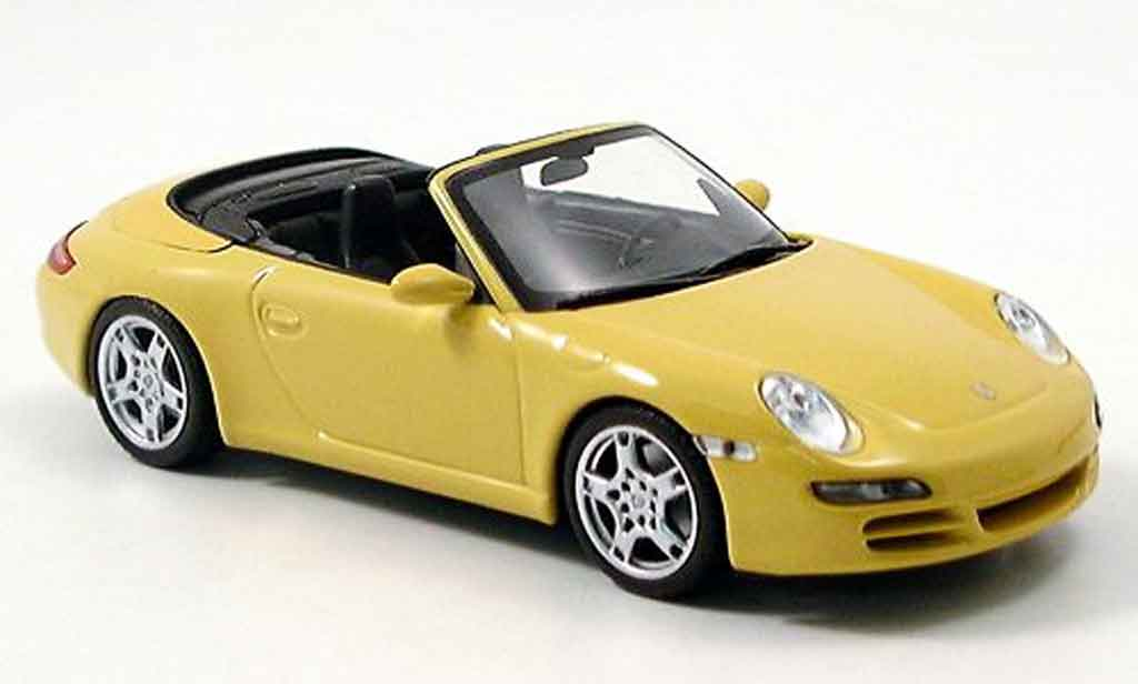 Porsche 996 S 1/43 Minichamps Carrera 911 Carrera Cabrio yellow 2005 diecast model cars