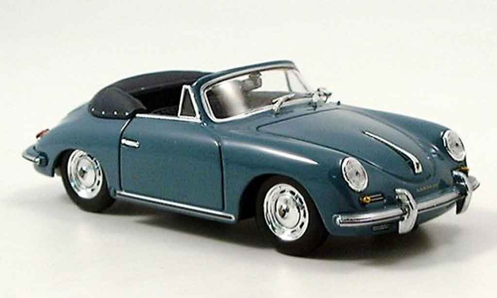 Porsche 356 1960 1/43 Minichamps B Cabrio bleu miniature